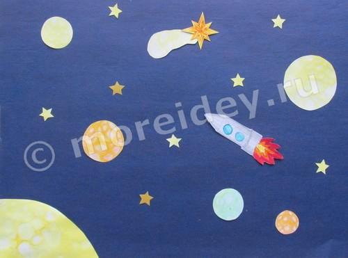 поделка космос ко дню космонавтики