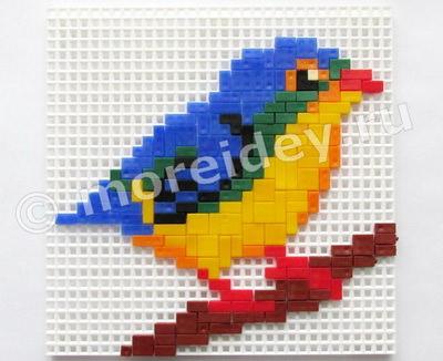мозаика тетрис птичка