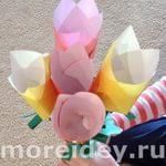 Детские поделки из цветной бумаги своими руками: объемные цветы из бумаги