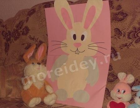 Пасхальный кролик плакат к Пасхе своими руками
