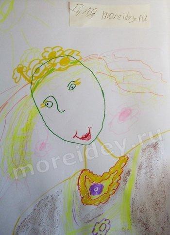 детский рисунок весна