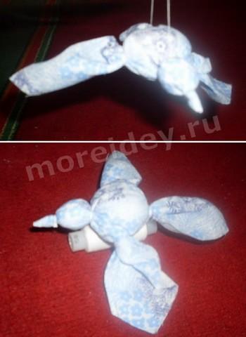 как сделать птичку из ткани