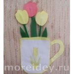 открытка 8 марта в подарок маме своими руками