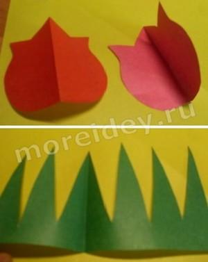 поделка тюльпаны