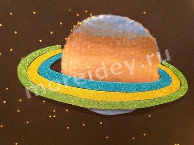 плакат планеты солнечной системы своими руками: Сатурн