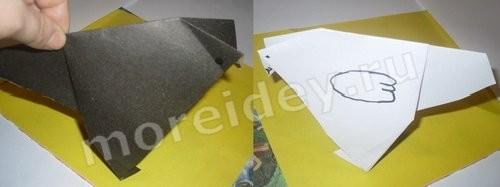 оригами грач из бумаги схема для детей