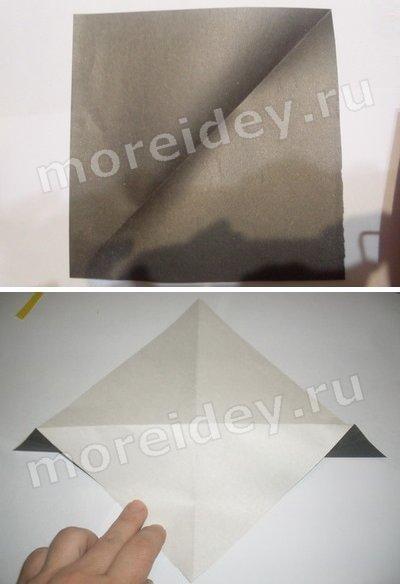 оригами грач схема