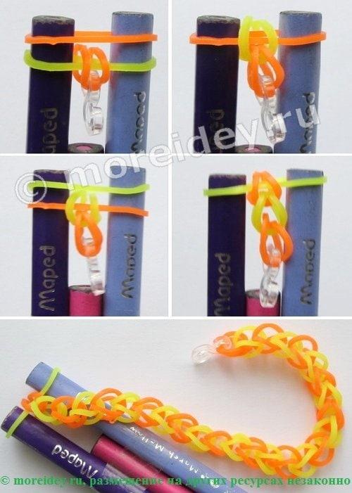 браслеты резиночками без станка на карандашах
