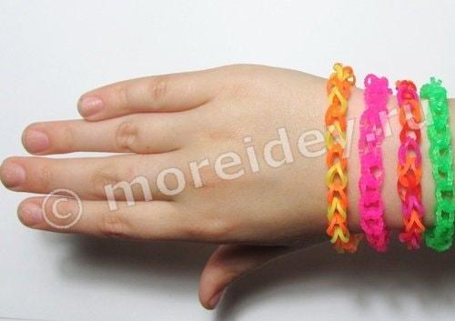 плетение браслетов из резинок Rainbow Loom (Рейнбоу Лум)