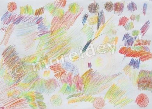 цветной карандаш три цвета в одном