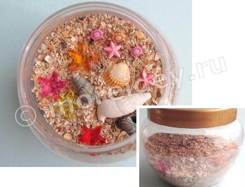 композиция из песка и ракушек своими руками