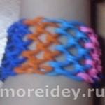 браслет из резинок сеточка