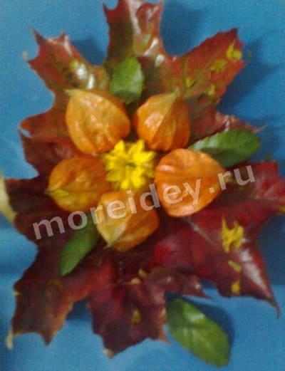 Аппликации и картины из листьев