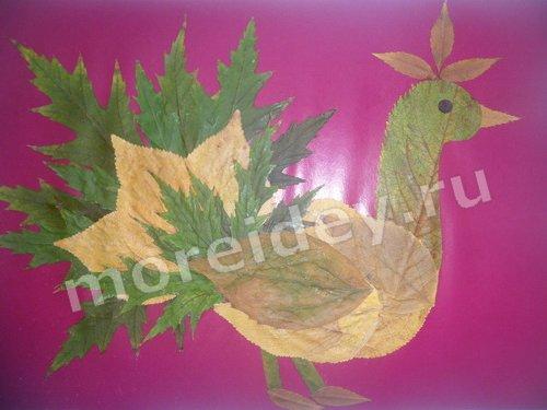 картины из осенних листьев своими руками фото