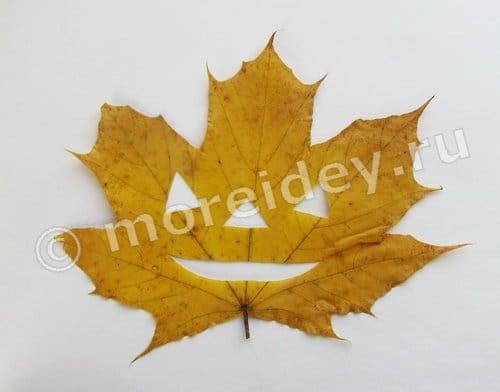 Поделки из осенних кленовых листьев