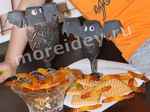 поделки на хэллоуин летучая мышь