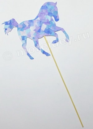 поделка мозаика из бумаги