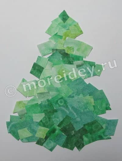 мозаика из бумаги: елочка