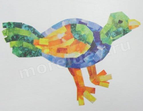 аппликация мозаикой из бумаги
