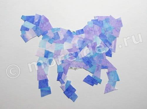 мозаика из бумаги для детей