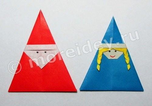 Новогоднее оригами: снегурочка, МОРЕ творческих идей для детей