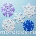 снежинки из термомозаики
