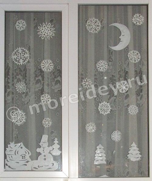 украшения на окна из бумаги