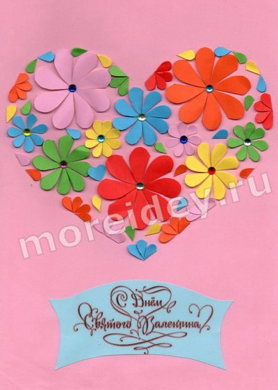 поделки из сердечек из бумаги
