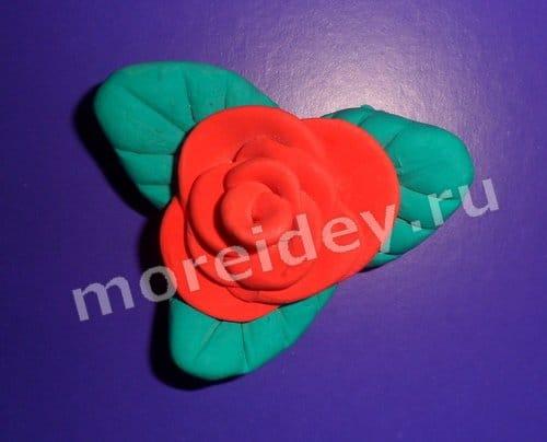 поделка роза из пластилина