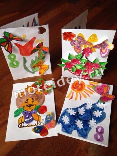открытки на 8 марта своими руками бумаги