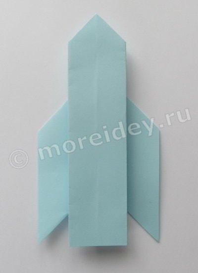 как сделать ракету из бумаги оригами схема