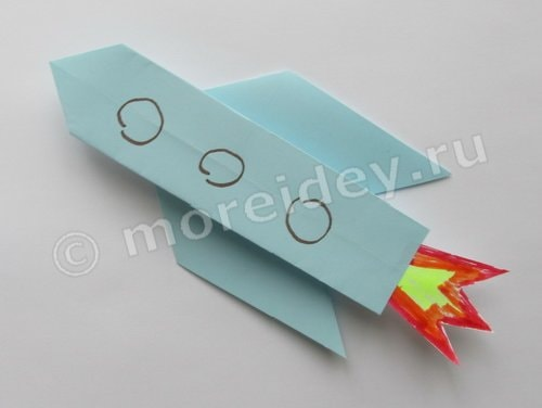 ракета в технике оригами