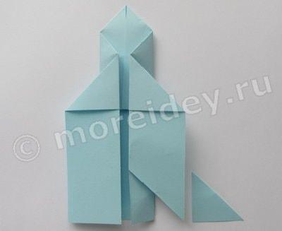 оригами космическая ракета