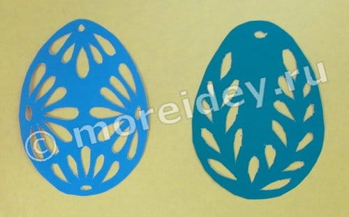 ажурное яйцо из бумаги