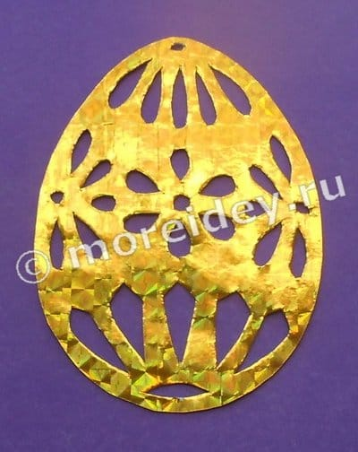 ажурные яйца из бумаги на пасху