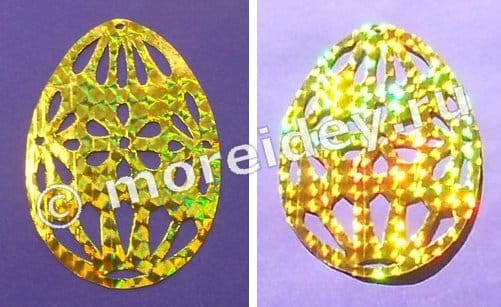 как сделать ажурные яйца на пасху
