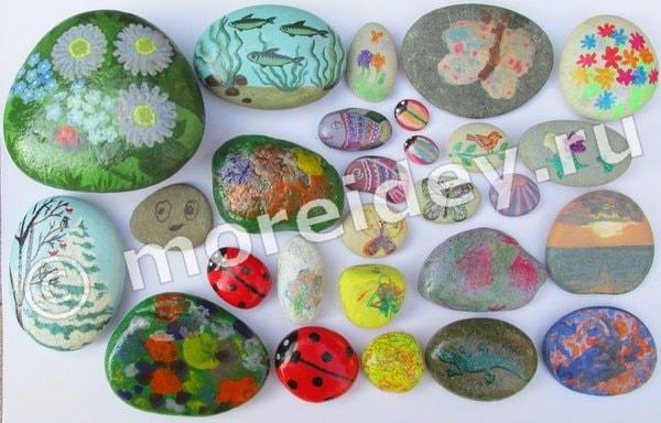 рисуем на камнях