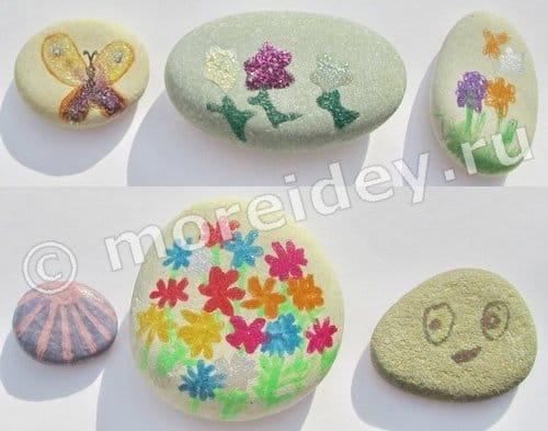 рисование на камнях для детей