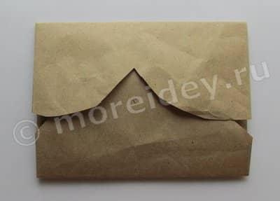 как сделать конверт из сердечка