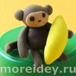 поделка обезьянка