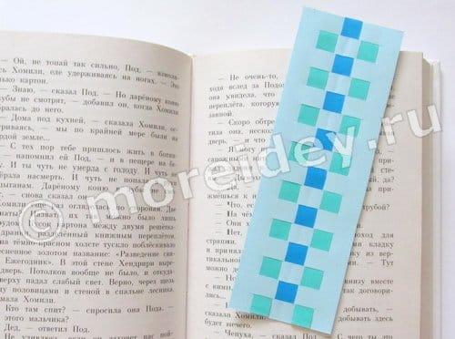 закладки полосок бумаги