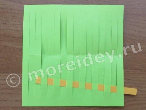 как сделать плетеный коврик из бумаги
