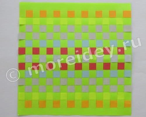 плетеные коврики из бумаги