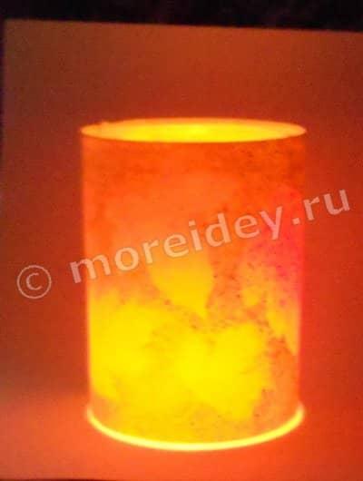 Карандашница-фонарик
