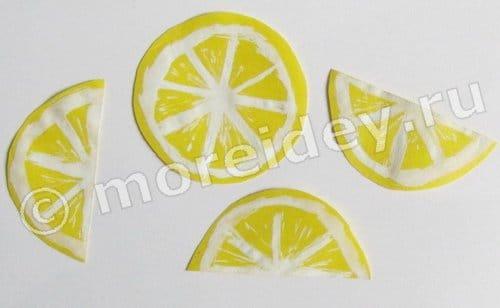 дольки лимона рисунок