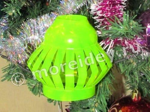 новогодние игрушки из пластиковых бутылок