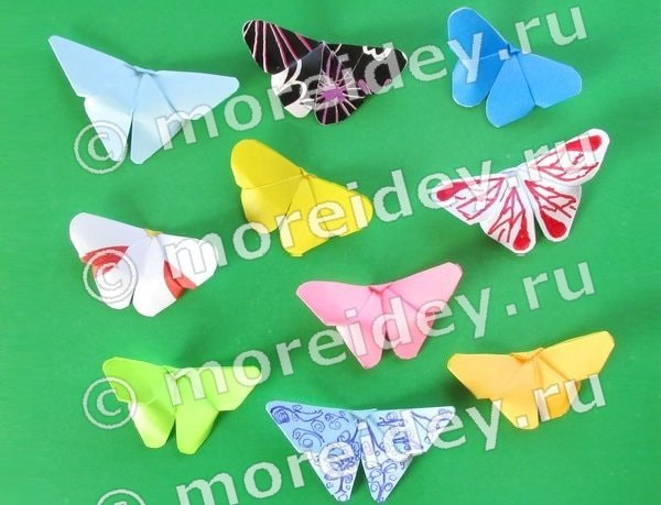 Бабочка оригами инструкция