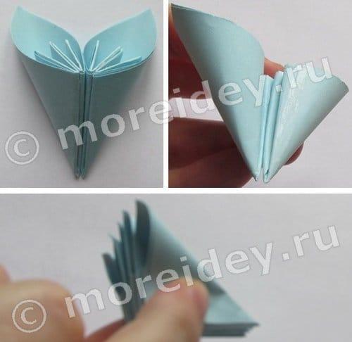 оригами цветы из бумаги поэтапно
