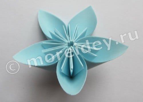 оригами из бумаги цветы для начинающих