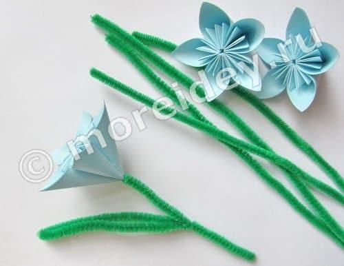 оригами цветы поэтапно